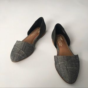 Toms NWT Jutti d'orsay leather chambray tweed